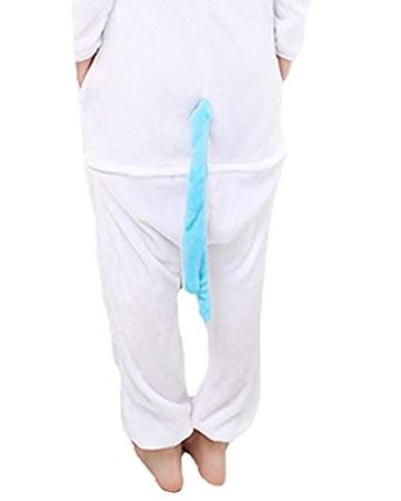 Einhorn Pyjamas Jumpsuit Kostüm Tier Schlafanzug Cosplay Karneval Fasching (Einhorn), Blau, Gr. S: für Höhe 148-157 - 5