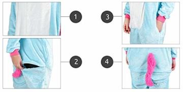 Iso Trade Einhorn Kostüm Tier Jumpsuits Einteiler Fasching Halloween Blau S M XL #4553, Größe:M - 2