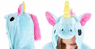 Iso Trade Einhorn Kostüm Tier Jumpsuits Einteiler Fasching Halloween Blau S M XL #4553, Größe:M - 3