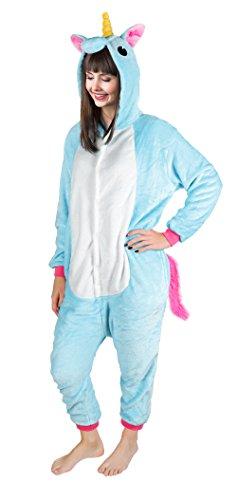 Iso Trade Einhorn Kostüm Tier Jumpsuits Einteiler Fasching Halloween Blau S M XL #4553, Größe:M - 5