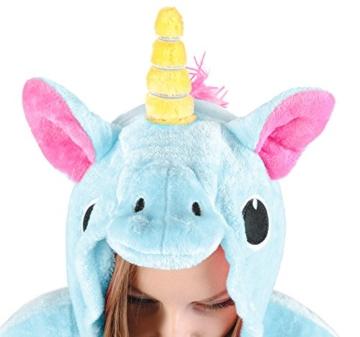 Iso Trade Einhorn Kostüm Tier Jumpsuits Einteiler Fasching Halloween Blau S M XL #4553, Größe:M - 6