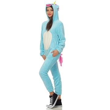 LBB 84K1 Damen Jumpsuit Einteiler Overall Tier Anzug Blaues Einhorn Gr M - 2