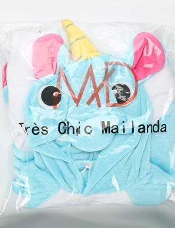 Très Chic Mailanda Einhorn Pyjamas Kostüm Jumpsuit -Karneval Cosplay Tier Schlafanzug Onesies Erwachsene Unisex Kigurumi (Large, Blau) - 7