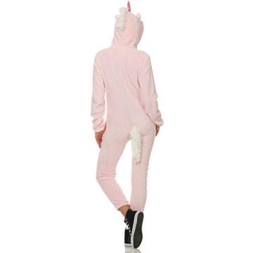 93C4 LBB Damen Jumpsuit Einteiler Overall Tier Anzug Rosa Einhorn Gr XL - 2