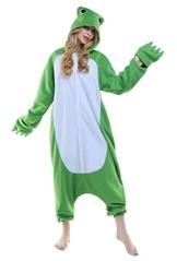 ABYED® Kostüm Jumpsuit Onesie Tier Fasching Karneval Halloween kostüm Erwachsene Unisex Cosplay Schlafanzug- Größe L-für Höhe 164-174CM, Frosch - 1