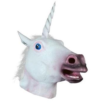 Boodtag Pferde Maske Einhornmaske Einhorn Latex Maske Halloween Party Kostüm Tiermaske Cosplay (A) - 1