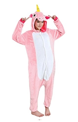 CoolChange Kuscheliger Einhorn Jumpsuite, Pink, Größe: L - 1