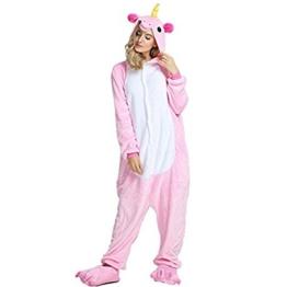 Crazy lin Unicorn Karikatur Overalls Pyjama Nachtwäsche Nacht Kleidung Dress up, Maskerade Partei Kostüme (S, Rosa) - 1