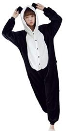 Panda Jumpsuit schwarz weiß