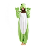 DarkCom Tier-Kostüm für Erwachsene Unisex-Modell Einteiler Jumpsuit ideal Pyjama oder Cosplay-Verkleidung Frosch - 1