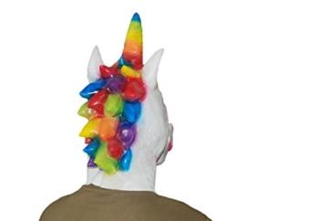 DylunSky Weihnachten Halloween Latex Maske Einhorn Kopf Regenbogen Farbige Einhorn Maske - 3