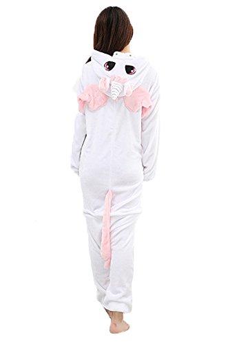Einhorn Pyjamas Jumpsuit Kostüm Tier Schlafanzug Cosplay Karneval Fasching (Einhorn), Pink, Gr. S: für Höhe 148-157 - 2