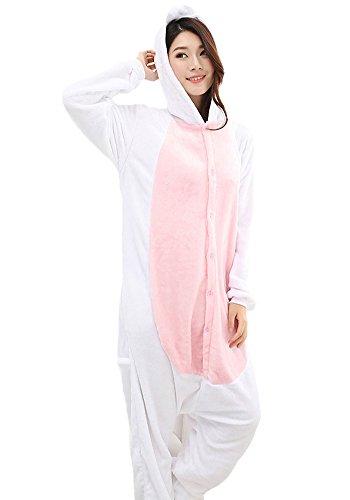 Einhorn Pyjamas Jumpsuit Kostüm Tier Schlafanzug Cosplay Karneval Fasching (Einhorn), Pink, Gr. S: für Höhe 148-157 - 3