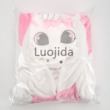 Einhorn Pyjamas Jumpsuit Kostüm Tier Schlafanzug Cosplay Karneval Fasching (Einhorn), Pink, Gr. S: für Höhe 148-157 - 6