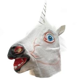Einhornmaske Pferdemaske Einhorn Latex Maske für Halloween Tiermaske Pferd Kostüm - 1
