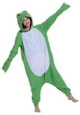 Fandecie Pyjama Tier Onesies mit Kapuze Erwachsene Unisex Cospaly Schlafanzug Halloween Kostüm Frosch Geeignet für Hohe 160-175CM - 1