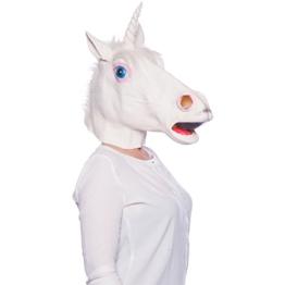 Folat 23829 Latex-Maske Einhorn weiß, Multicolor - 1