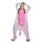JINZFJG Erwachsene Damen/Herren  Tier-Kostüm Jumpsuit Schlafanzug Pyjamas Einteiler, Rosa Einhorn, XL (Körpergröße 178-188 cm) - 1