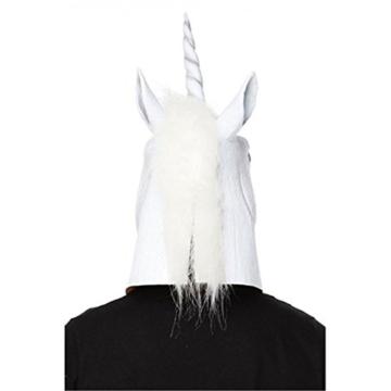 JRing Einhorn Kopf Maske Latex Pferd für Kostüm Fancy Dress Party Halloween, Creepy Adult Einhorn Kopf Latex Gummi Maske (Einhorn) - 2