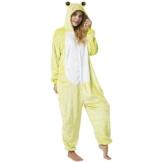 Katara 1744 -Frosch Kostüm-Anzug Onesie/Jumpsuit Einteiler Body für Erwachsene Damen Herren als Pyjama oder Schlafanzug Unisex - viele verschiedene Tiere - 1