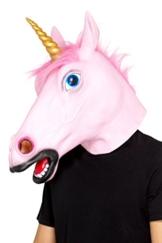 SMIFFY 'S 48874Einhorn Maske aus Latex, Unisex, Pink, One size - 1