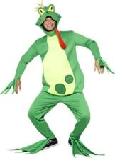 Smiffy's 43389 - Frog Prince Kostüm Top mit festen Händen Handschuhee Hosen Kopfstück und Füße Covers - 1