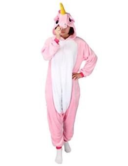 Très Chic Mailanda Einhorn Pyjamas Kostüm Jumpsuit Tier Schlafanzug Erwachsene Unisex Fasching Cosplay Karneval - 1