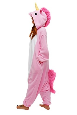 Unicorn Costume Adult Animal Jumpsuits Pajamas Animal Unicorn Jumpsuit Sleepwear Unisex Cosplay Costume for Women and Men - 1