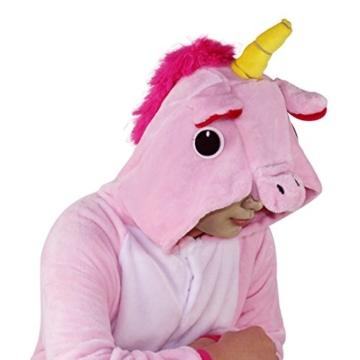 Unicorn Costume Adult Animal Jumpsuits Pajamas Animal Unicorn Jumpsuit Sleepwear Unisex Cosplay Costume for Women and Men - 4