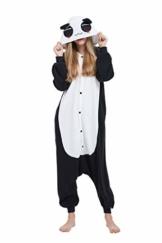 Fandecie Tier Kostüm Tierkostüm Tier Schlafanzug Panda Pyjamas Jumpsuit Kigurumi Damen Herren Erwachsene Cosplay Tier Fasching Karneval Halloween (Panda, M:Höhe 160-169cm) - 1