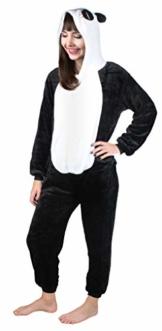 Iso Trade Panda Kostüm Tier Jumpsuits Einteiler Fasching Halloween S M XL #4546, Größe:XL - 1