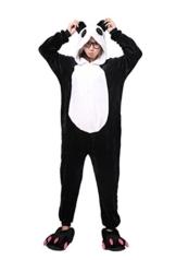 Kenmont Tier Schlafanzug Cosplay Kostüm Einhorn Pyjama Tierkostüme Jumpsuits Erwachsene Nachthemden Overall Plüschtier (S, Panda) - 1