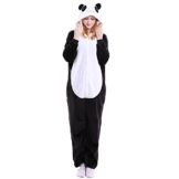 LSERVER Erwachsenen Tier Pyjama Jumpsuit Cosplay Unisex Pyjamas Outfit Onesie Nacht Kostüm, Panda, S (empfohlene Höhe 145-155 cm) - 1