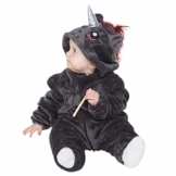corimori 1850 Ruby Punk-Einhorn Baby Kleinkind Onesie Jumpsuit Strampler Anzug Kostüm Verkleidung (70-90 cm), Schwarz - 1