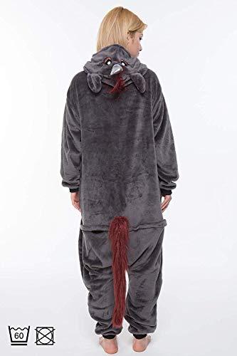 corimori 1852 Ruby Punk-Einhorn Damen Herren Onesie Jumpsuit Anzug Einteiler Kostüm Verkleidung Gr. 170 - 180cm, Schwarz - 4