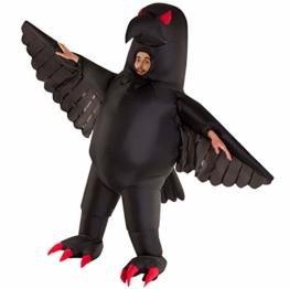 Morph Riesiges Aufblasbares Halloween-Tiervogel-Kostüm der Bösen Krähe für Erwachsene - 1