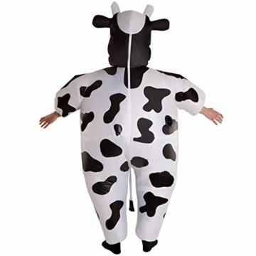 Morph Riesiges Aufblasbares Kuh-Halloween-Tierkostüm für Erwachsene - 3