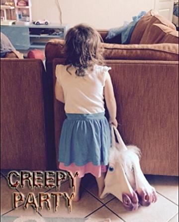 CreepyParty Deluxe Neuheit-Halloween-Kostüm-Party-Latex-Tierkopf-Schablone Einhorn -