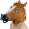 Pferdemaske für Halloween Maske latex Tiermaske Pferdekopf Pferd Kostüm -