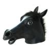 Queenshiny® Latex Pferd Maske Halloween-Party Kostüm (Schwarz) -