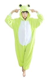 Cosplay Onesie Jumpsuits Anime Kostuem Erwachsene Pyjama Frosch Tier Onesie Jumpsuits (L(165-175CM), Frosch) - 1