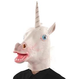 Disfrazzes EUROCARNAVALES Weiße Einhorn-Maske - 1