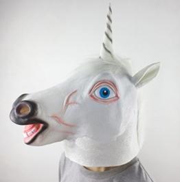 Einhorn Maske, Tierkopf Kostüm Latex Halloween / facy Kleid Parteien Maske - 1