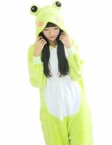 Triseaman Unisex Erwachsene Halloween Pyjamas Tier Onesie 3D Frosch L - 1