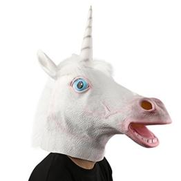 XIAO MO GU Halloween Maske latex Einhorn Tiermaske Kostüm - 1