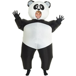 Morph GIANT PANDA aufblasbar Kinder Kostüm–EINE Größe - 1